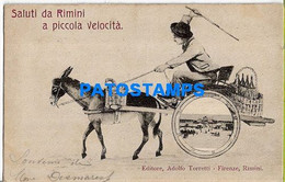 157709 ITALY RIMINI ART MAN IN CART A DONKEY POSTAL POSTCARD - Unclassified