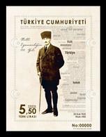 Turkey 2020 Mih. 4564 (Bl.199) 100th Anniversary Of National Sovereignty (II). Kemal Atatürk MNH ** - Nuovi