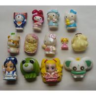 13 Small Japanese Characters Plastic Figurines - Non Classificati