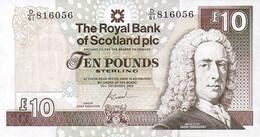SCOTLAND P. 353b 10 P 2007 UNC - 10 Pounds