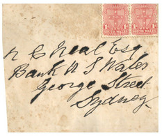 (NN 16) Australia Cover - With NSW State Stamps (pair) - Briefe U. Dokumente