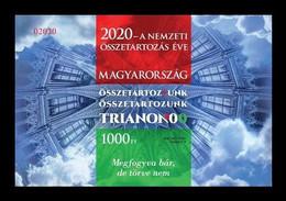 Hungary 2020 Mih. 6148B (Bl.443B) World War I. Peace Treaty Of Trianon (imperf) MNH ** - Ongebruikt
