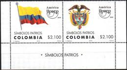 Colombia 2010 ** YT1609-10 Upaep Símbolos Patrios. Bandera. Escudo. Patriotic Symbols. Flag. Coat Of Arms.. - Colombia