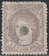 1870. * Edifil: 111T. MATRONA-TALADRADO - Neufs