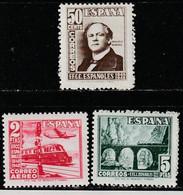 1948. ** Edifil: 1037/39. CENTENARIO DEL FERROCARRIL - 1931-50 Neufs