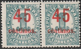 1938. ** Edifil: 742(2). CIFRAS. HABILITACION CALCADA AL DORSO - 1931-50 Neufs