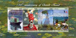 Liberia 2020  Paintings Of Claude Monet   S202102 - Liberia