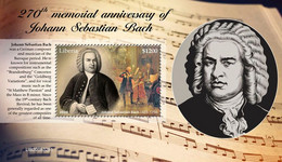 Liberia 2020 Johann Sebastian Bach S202102 - Liberia