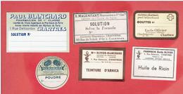 CHARTRES EURE ET LOIR PHARMACIE PHARMACIEN LOT 6 ETIQUETTES NEUVES POUR MEDICAMENTS - 1950 - ...