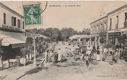 X5- MARENGO (ALGERIE) LA GRANDE RUE   - ( ANIMATION - GRAND HOTEL D ' ORIANT ) - Autres Villes