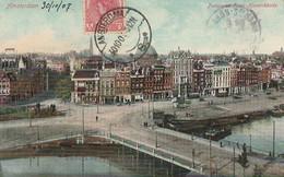 W20- AMSTERDAM - PANORAMA PRINS - HENDRIKKADE - ( OBLITERATION DE 1907 - 2 SCANS ) - Amsterdam