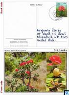 Sri Lanka Postcards, Stamps, Ma Rathmal, Flowers, Horton Plains National Park, UNESCO, Postcrossing - Sri Lanka (Ceylon)