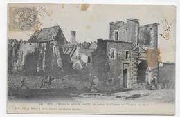 (RECTO / VERSO) BAZEILLES EN 1902 - BATAILLE DE 1870 - N° 14 - RUINES DU CHATEAU DE TURENNE - PLI ANGLE BAS A GAUCHE CPA - Other Municipalities