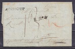 """L. Datée 1803 De VIENNE Pour ATH Hainaut - Man. """"Vienne"""" - Griffes """"Autriche"""" & """"R.N°4"""" - Port """"13"""" - 1794-1814 (French Period)"""