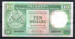 514-Hong Kong 10 Dollars 1988 UB000 Neuf - Hong Kong