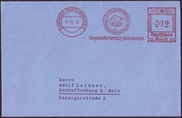 Germany - 1936 F - Winter Olympic Games 1936 - Letter - Inverno1936: Garmisch-Partenkirchen