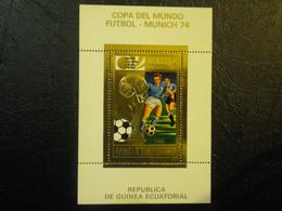 1974 COUPE DU MONDE FOOTBALL MUNICH  BLOC TIMBRE OR NEUF** VOIR SCAN - Equatorial Guinea