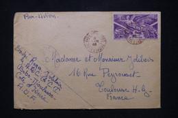 A.O.F.-  Oblitération En Rouge De Bobo Dioulasso Sur Tpe Victoire Sur Enveloppe En 1946 Pour Toulouse - L 95247 - Covers & Documents