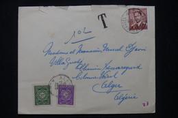 ALGÉRIE - Taxes De Alger Sur Enveloppe De Bruxelles En 1958 - L 95249 - Covers & Documents