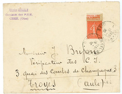 50C SEMEUSE LIGNE PUB LA REDOUTE  OISE ENV 1930 CREIL GARE - 1921-1960: Modern Tijdperk