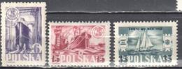 Poland 1948 - Day Of The Sea - Mi 490-92 - MNH(**) - Nuevos