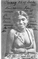Ceylan - Rodiya Girl Ceylon - Sein Nu - 2 Scans - Affranchissement Sur Un Paquebot Voir Tampon - Sri Lanka (Ceylon)