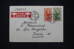 MAROC - Enveloppe De L 'Hôtel Miramar De Casablanca Pour La France Par Avion En 1935, Affranchissement Lyautey - L 95256 - Covers & Documents