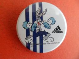 No Pins  - Badge Sport Bugs Bunny En Halterophilie  -  Warner Bros - Marque ADIDAS - - Tennis