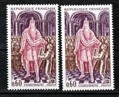 France 1497 Variété Doigts Effacés Et Normal Charlemagne Neuf ** TB MNH Sin Charnela - Varieties: 1960-69 Mint/hinged