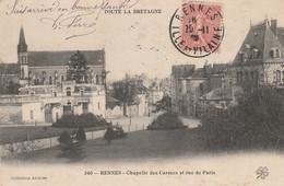 D8- 35) RENNES - CHAPELLE DES CARMES ET RUE DE PARIS - Rennes