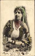 CPA Portrait Einer Jungen Frau Aus Algerien In Tracht, Schmuck - Costumi