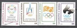 Georgie - Georgia 1995 Yvert 79-82, International Year Of Sport And Olympic Games - MNH - Georgia