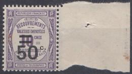 FRANCE TAXE N** 51 MNH - 1859-1955 Mint/hinged