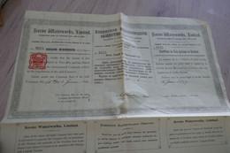 Action 1 Livre 1899 Société Kovno Waterworks - Unclassified