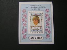 ANGUILLA 1982 Blok No 43 21 St Birthday Of H.R.H.The Princess Of Wales MNH.. - Anguilla (1968-...)
