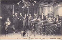 BAC19-  HENRY'S HOTEL   BAR  COMPTOIR 11 RUE VOLNEY  PARIS   CPA CIRCULEE - Pubs, Hotels, Restaurants