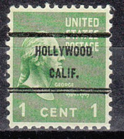 Locals USA Precancel Vorausentwertung Preo, Bureau California, Hollywood 804-71 - Precancels