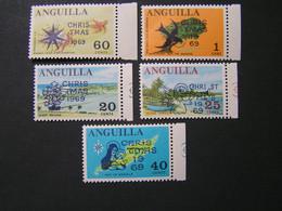 ANGUILLA 1969 Set No 47-51 Overprind CRTS TMAS 1969  MNH.. - Anguilla (1968-...)