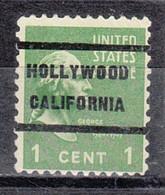 Locals USA Precancel Vorausentwertung Preo, Locals California, Hollywood 236 - Precancels