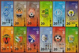 "UKRAINE Set 12 Pcs. ""Football Clubs Of Ukraine"" 2021 UNC. Private Essay. Fantasy. - Other"