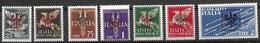 Laibach Ljubliana Complete Set 1944 Mnh ** 210 Euros Michel 21-27 All Signed BPP KRischke - Occupation 1938-45
