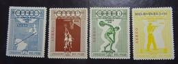 &169B& PERU YVERT PA 116/119, MICHEL 547/550 MNH**, SPORT, OLYMPIC GAMES. - Peru