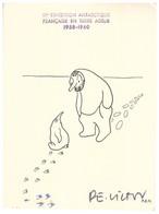 TAAF TERRE ADELIE CARTE EPF 03 02 1960 R MERLE Pour G RROUILLON SIGNEE PE VICTOR - Cartas