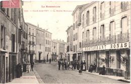 FR66 ILLE SUR TET - Labouche 351 - La Route Nationale - Café Restaurant Bonas - Animée - Belle - Other Municipalities
