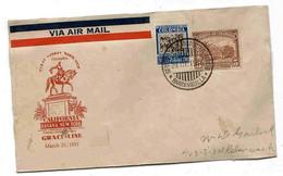 Colombie Colombia Lettre Cover Sobre Barranquilla 1933 Grace Line Santa Lucia Havana New York . - Colombia