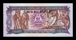 Mozambique 5000 Meticais 1989 Pick 133b Low Serial DW SC UNC - Mozambique