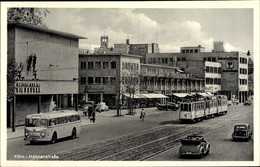CPA Köln Am Rhein, Blick In Die Hahnenstraße, Straßenbahn, Gleise, Bus, British Centre Die Brücke - Other