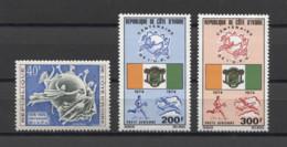 Ivory Coast UPU POST 1974 Mi#458-460 MNH - Post