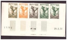 TAAF ESSAI DE COULEUR N°2 COIN DATE 29 02 1956 MNH - Cartas