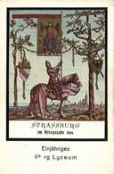Illustrateur STRASSBURG  Im Kriegsjahr 1916 Einjahriges IIb Rg Lyceum RVAls Einjahring Freinilliger Stellt Sich Vor - Strasbourg